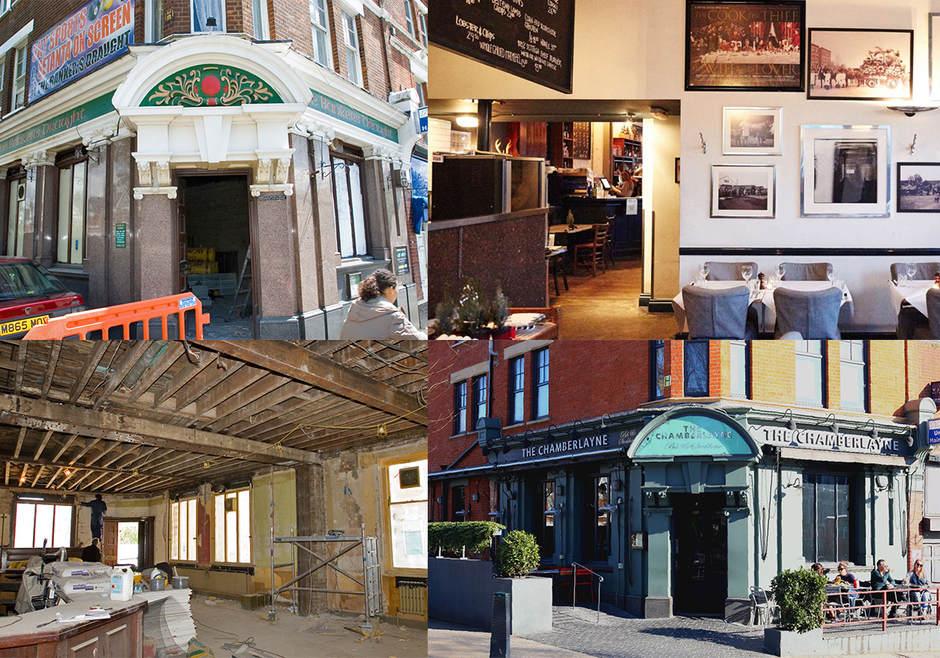 The Chemberlayne pub in Kensal Rise.