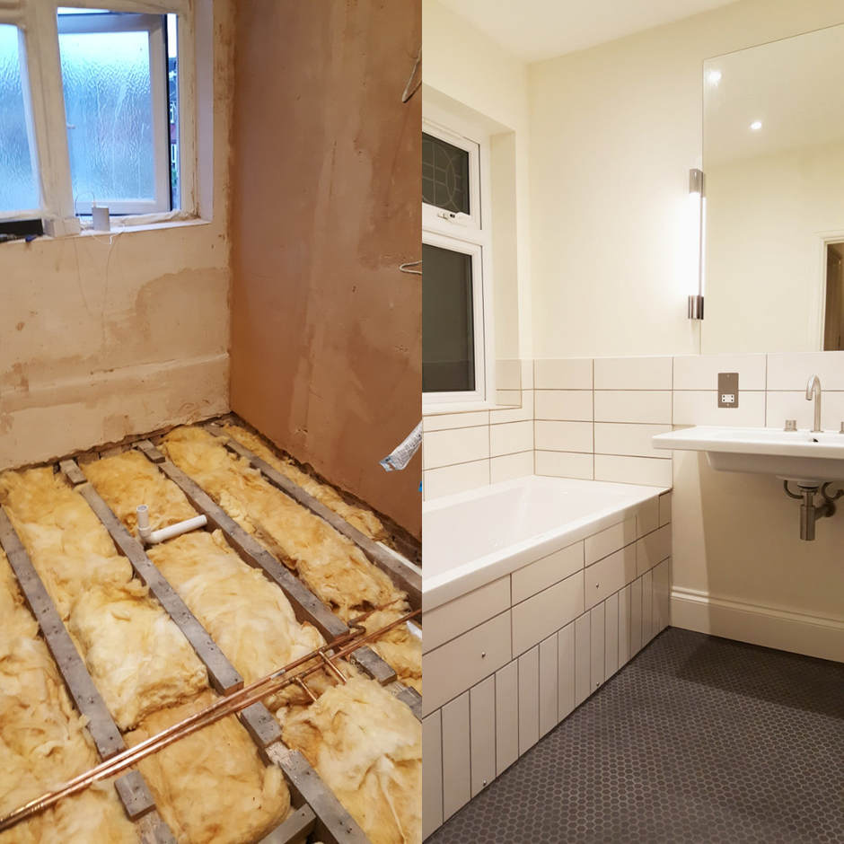 Bathroom renovation in Kensal Rise.