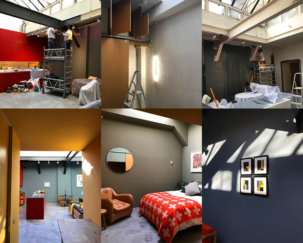 Redecoration of a modern apartment in Hackney.