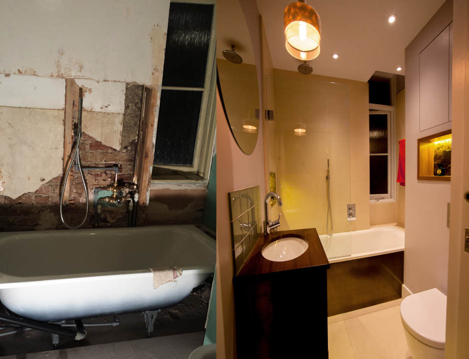 Bathroom renovation to a very high standard in Warwick Avenue.