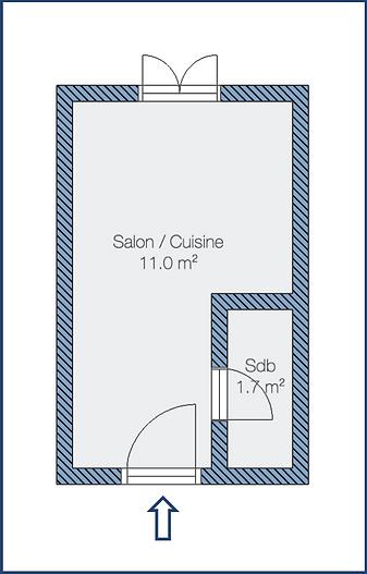 Plan de l'appartement - Berzélius