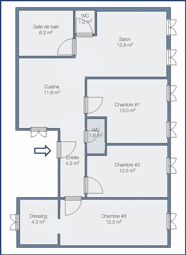 Plan de l'appartement - St-Étienne 85m2.png