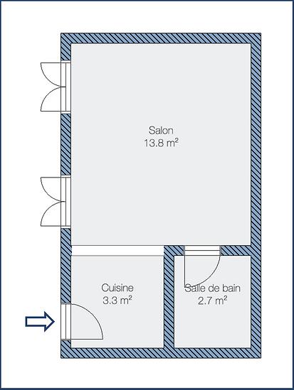 Plan de l'appartement - Saulnier