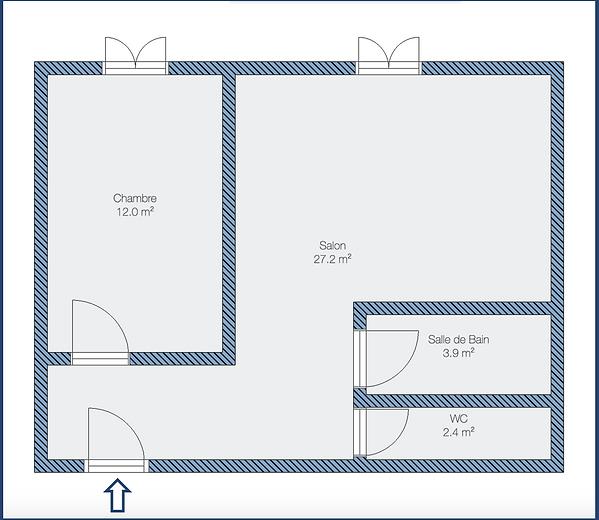 Plan de l'appartement - St-Étienne