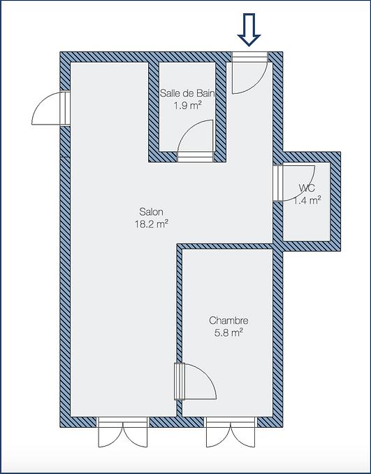 Plan de l'appartement - Aicard