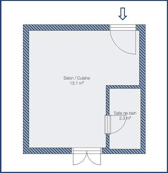 Plan de l'appartement - Parodi