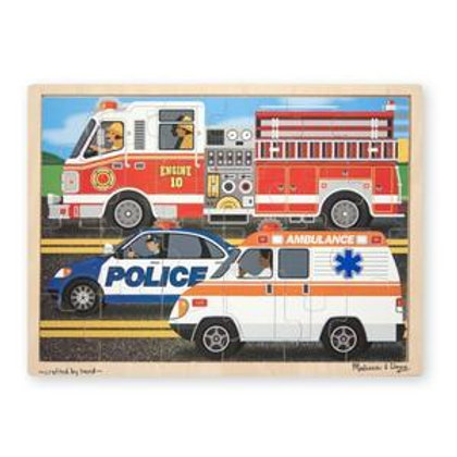 To the Rescue Wooden Jigsaw Puzzle (24pc)