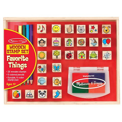 Wooden Stamp Set - Favorite Things