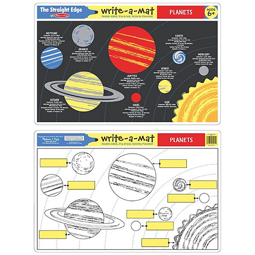 Solar System Write-a-Mat (Bundle of 6)