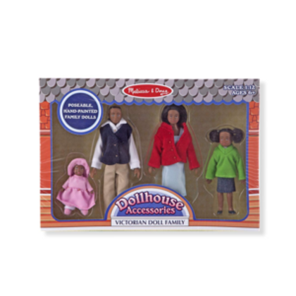 African-American Victorian Doll Family
