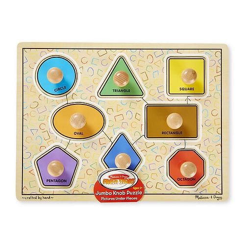 Large Shapes Jumbo Knob Puzzle (8 pc)
