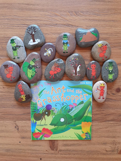Story Stone Gift Set - The Ant and the Grasshopper