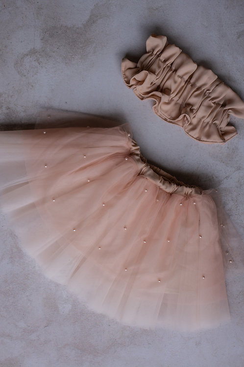Fairy Skirt and Bandeau Top - Soft Pink