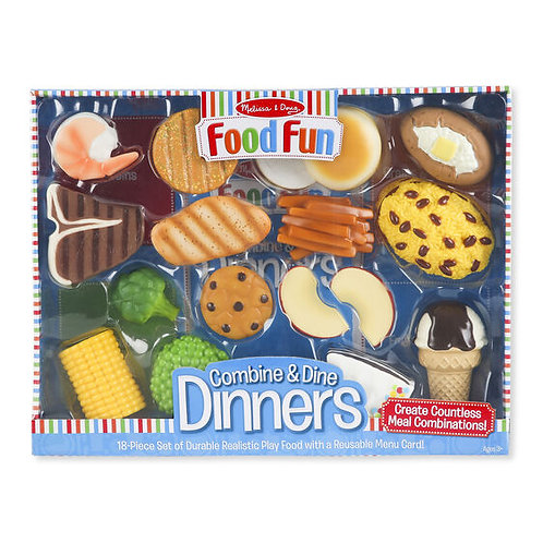 Combine and Dine Dinners - Blue (Plastic)