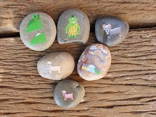 Three Billy Goats Gruff Story Stones