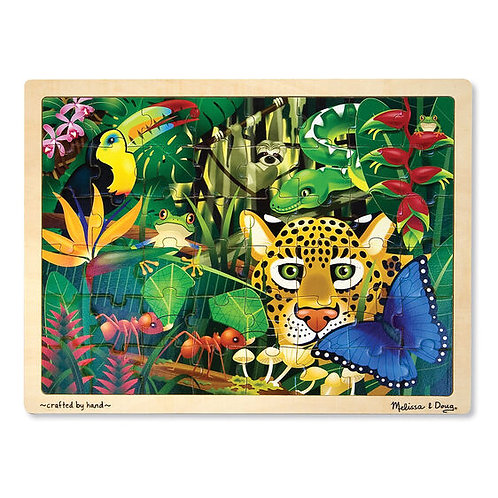 Rainforest Wooden Jigsaw Puzzle (48pc)