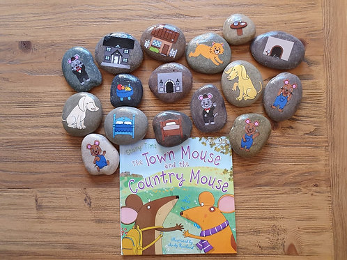 Story Stone Gift Set - Town Mouse and Country Mouse