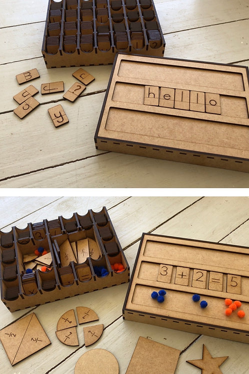 Spelling and Maths Box Combo