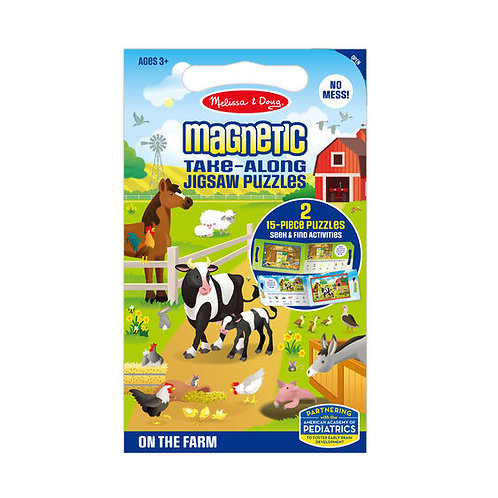 Take Along Magnetic Jigsaw Puzzle - On the Farm