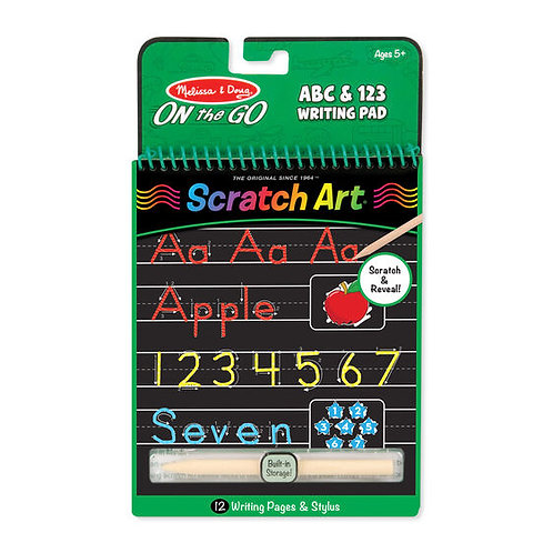 Scratch Art Color Reveal Pad - ABC 123 Writing