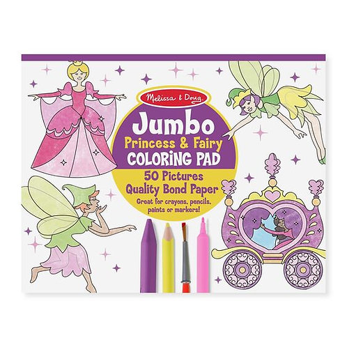 Jumbo Coloring Pad - Princess and Fairy