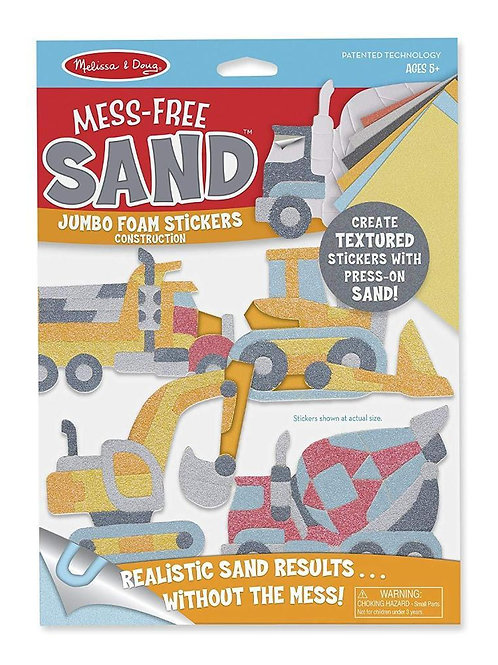 Mess Free Sand Stickers - Construction