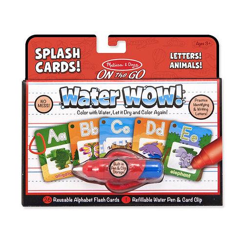 Water Wow Splash Cards - Alphabet