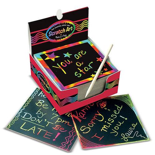 Rainbow Mini Scratch Art Notes (125 Notecards)