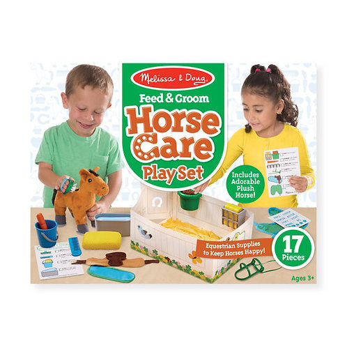 Feed and Groom Horse Care Play Set