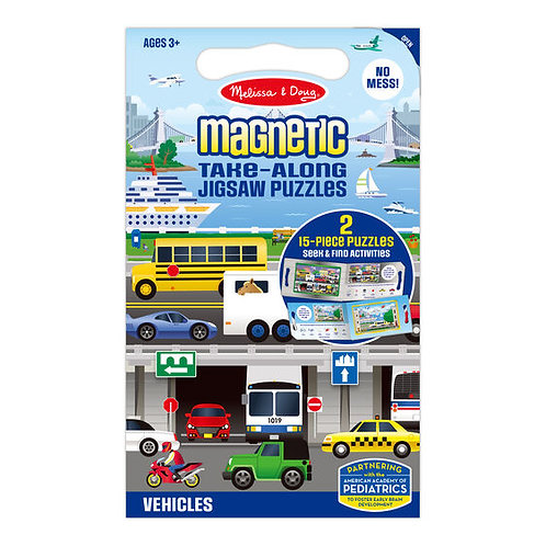 Take Along Magnetic Jigsaw Puzzle - Vehicles