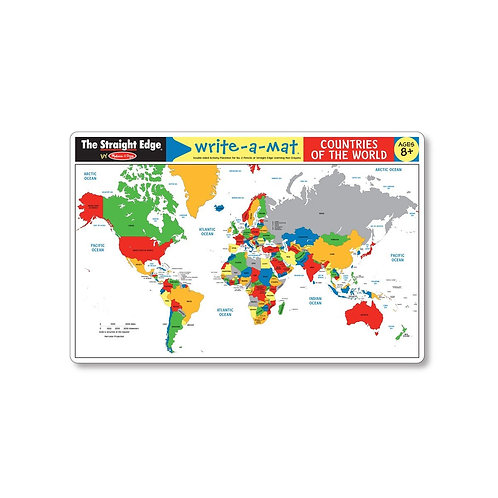 Countries of the World Write-a-Mat (Bundle of 6)