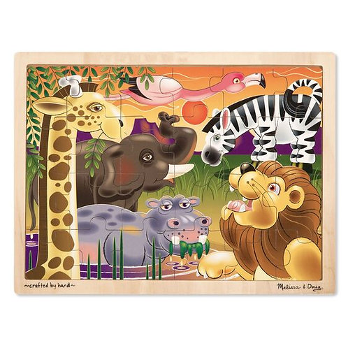 African Plains Wooden Jigsaw Puzzle (24pc)