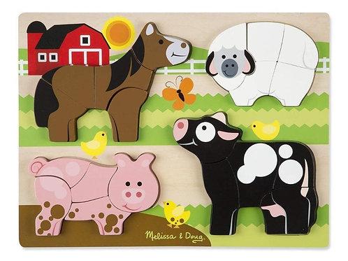 Chunky Jigsaw Puzzle - Farm (20pc)
