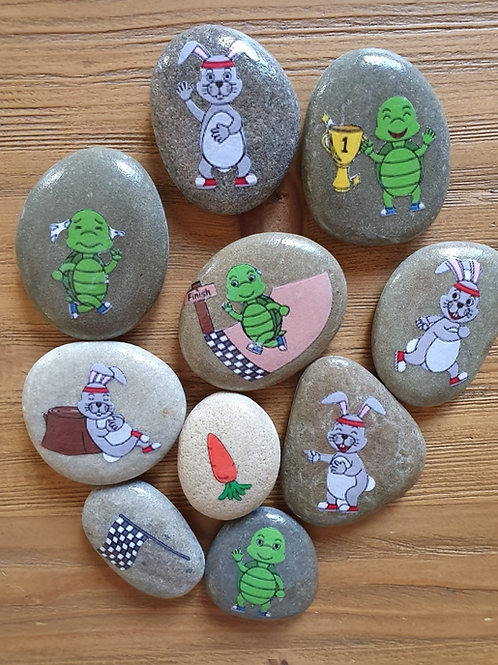 The Tortoise and the Hare Story Stones