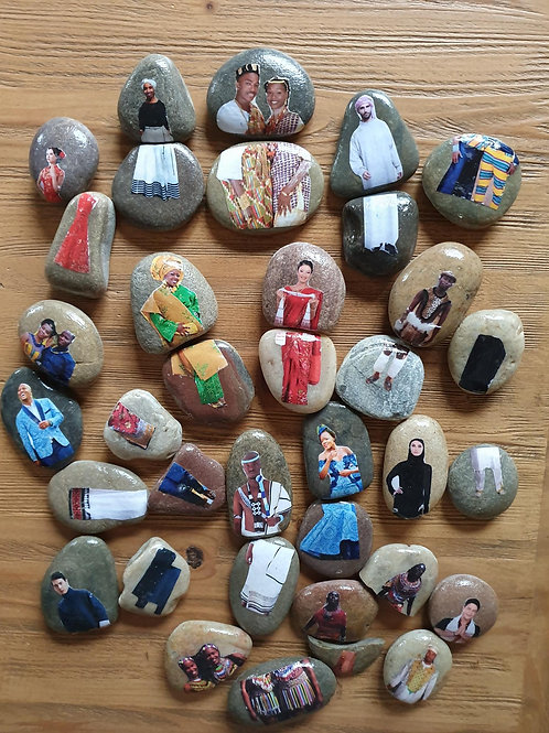 Story Stones - SA Traditional Clothes Dress Up (36pc)
