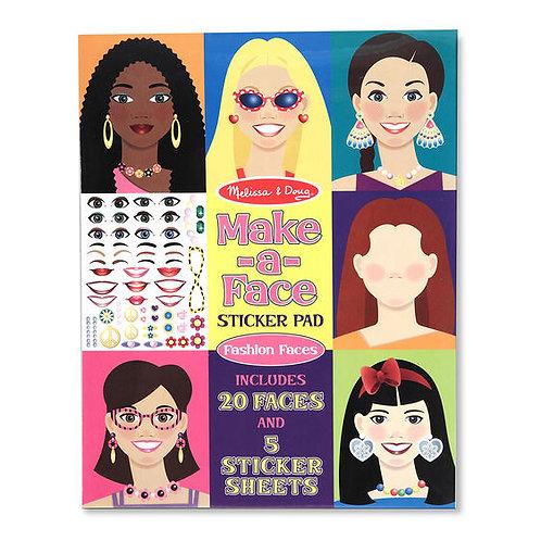 Sticker Pad - Make-a-Face