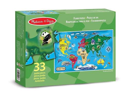 Floor Puzzle - World Map (33pc)