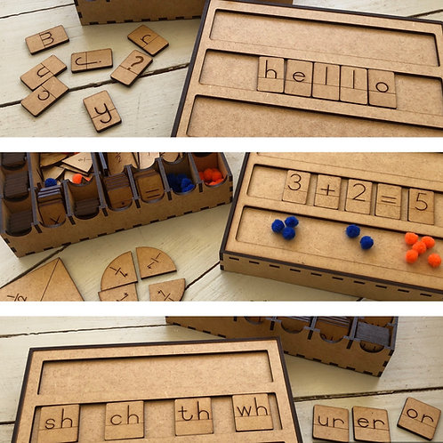 Spelling, Digraph and Maths Box Combo