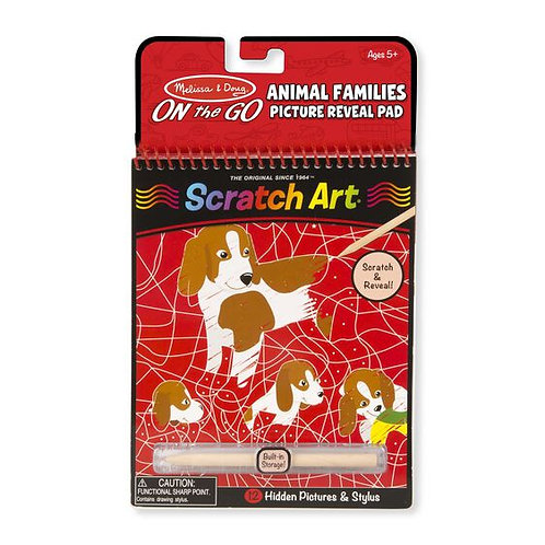 Scratch Art Color Reveal Pad - Animal Families