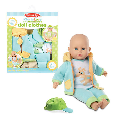 Mix and Match Playtime Doll Clothes