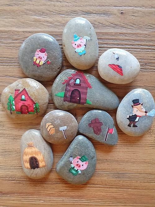 Story Stones - Three Little Pigs (10pc)