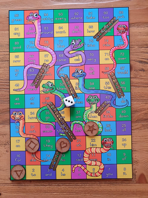 Snakes and Ladders Sight Words