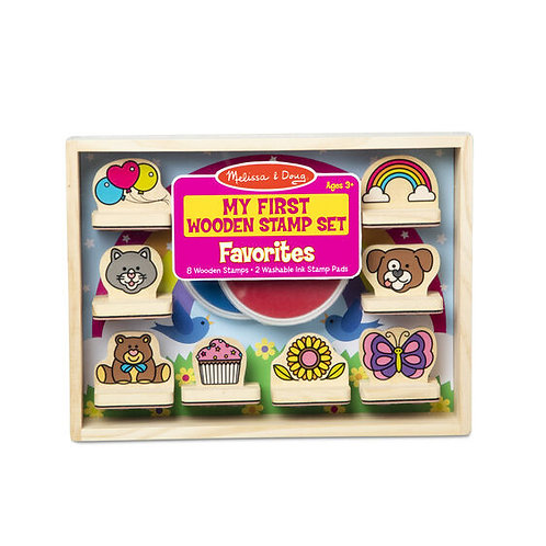 My First Wooden Stamp Set - Favorites