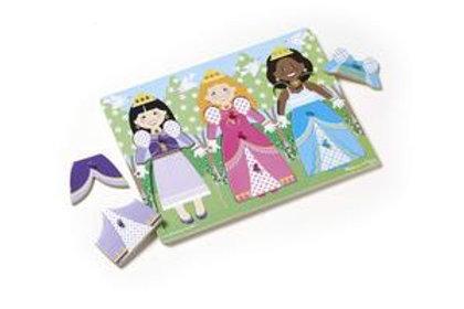 Dress-Up Princesses Peg Puzzle