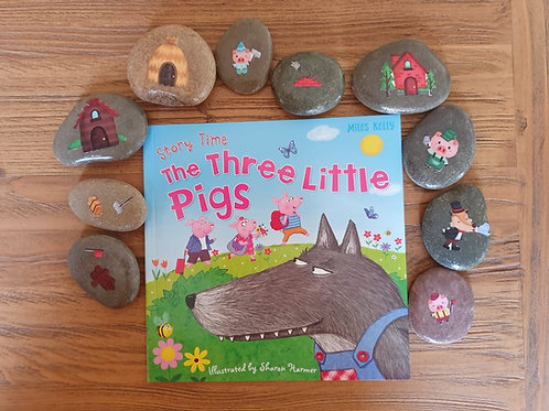 Story Stones Gift Set - Three Little Pigs (10pc)