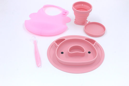 Silicone Meal Set - Pink Piggy
