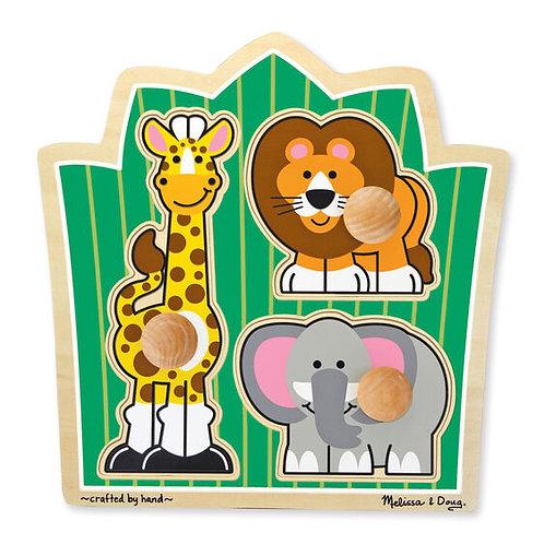Jungle Friends Jumbo Knob Puzzle