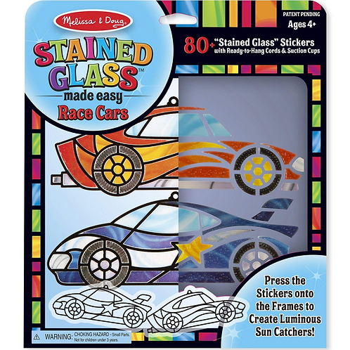 Peel and Press Stained Glass - Race Car Ornaments