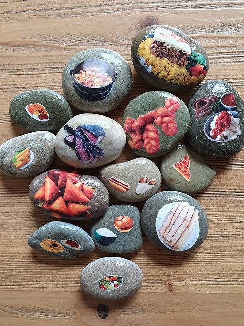 Story Stones - Common South African Food (14 pc)
