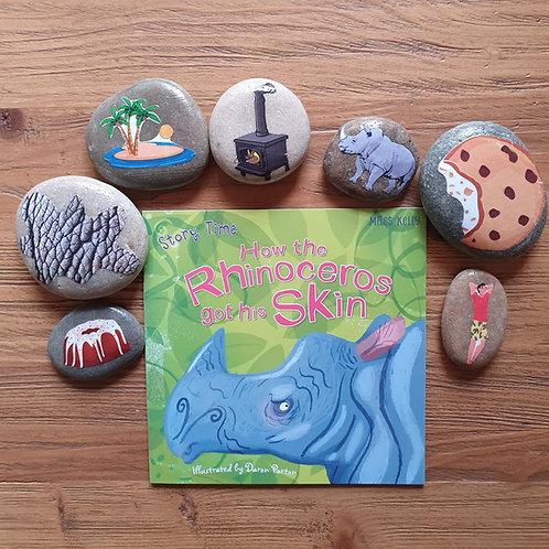 Story Stone Gift Set - How the Rhinoceros got his Skin